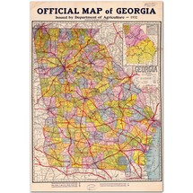 Official Map of Georgia 1932